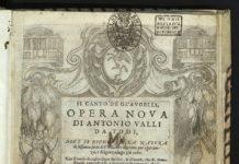 Il frontespizio del primo libro in assoluto di Ornitologia.