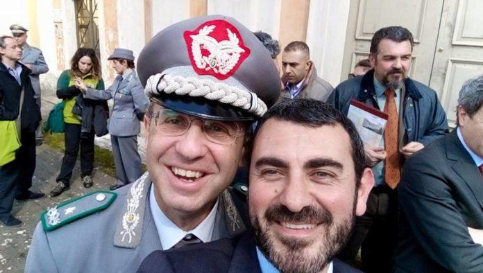 Il Ministro dell'Ambiente Sergio Costa e il capo-segreteria Fulvio Mamone Capria
