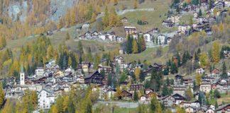 Il villaggio di Valtournenche in Valle d'Aosta