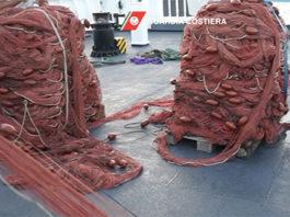 Rete da pesca sequestrata