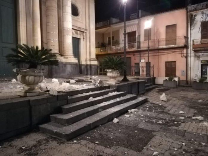 Terremoto a Catania nella notte tra il 25 e il 26 dicembre, foto TW Salvo La Rosa