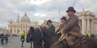 Butteri a San Pietro per il giorno di Sant'Antonio, patrono degli animali