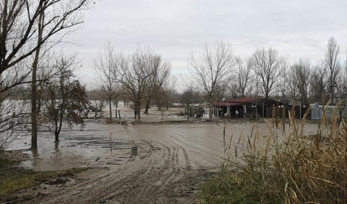 Esondazione del Reno (Foto di Lucia Borgonzoni)