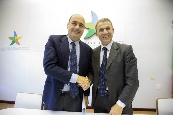 Nicola Zingaretti e Sergio Costa