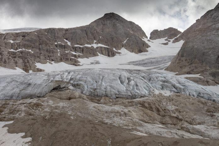 Il ghiacciaio della Marmolada oggi