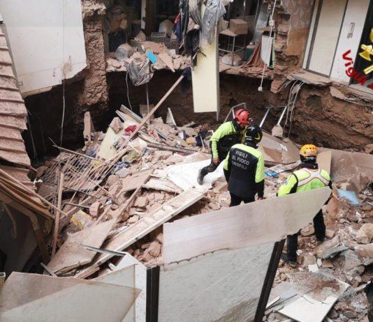 La palazzina crollata a Catania