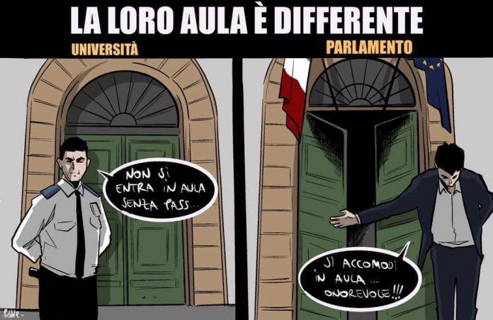 La vignetta di Pubble l'imbannabile apparsa su Facebook, 8 settembre 2021